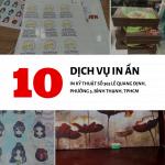 Top 10 dịch vụ in ấn được quan tâm nhất tại In Kỹ Thuật Số 365 Lê Quang Định, phường 5, Bình Thạnh, HCM