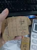 In tag quà cưới - In tag treo giá rẻ tại THPHCM, in không hạn chế màu, số lượng