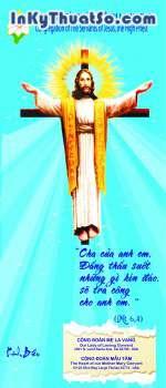In tranh nghệ thuật chất liệu Vải Silk cao cấp cho 'Dòng Nữ Tỳ Chúa Giê Su Linh Mục'