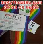 In silk dải màu cờ cầu vồng cho sự kiện Viet Pride 2014 tại Sài Gòn tổ chức bởi trung tâm ICS và Oxfam