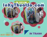 In tranh khổ lớn chất liệu canvas cho nhà Chùa