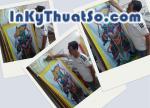 In tranh treo tường khổ lớn thờ tự với bạt canvas