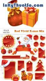 Vector ông già Noel và món quà