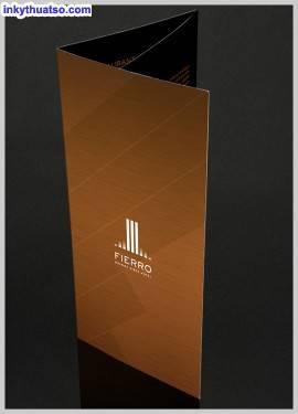Một số mẫu thiết kế Hotel Brochure và mẫu in