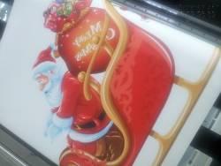 In decal khổ lớn dán trang trí Giáng Sinh