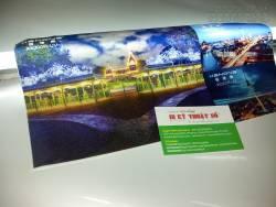 In UV Silk mờ chất lượng cao dùng in tranh, liễn, câu đối, cờ lưu niệm, quảng cáo
