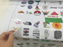In UV decal sữa chất lượng cao dùng làm sticker, tem nhãn dán sản phẩm, decal dán tường,...