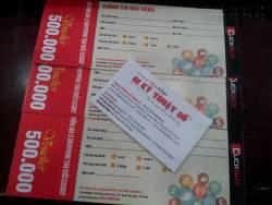 Thiết kế, in ấn voucher, combo khuyến mãi sản phẩm bánh trung thu