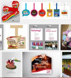 In wobbler bọc nhựa nhiều màu tạo ấn tượng và thu hút khách hàng