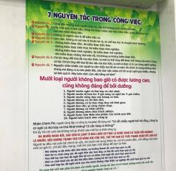 In tranh trang trí tường danh ngôn/châm ngôn cuộc sống từ PP cán format