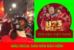 Dán decal và Sticker miễn phí ủng hộ U23 Việt Nam nào các bạn!!!