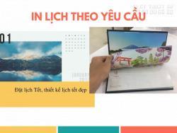 In lịch theo yêu cầu TPHCM - Đặt lịch Tết, thiết kế lịch tết đẹp