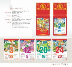 Thiết kế lịch treo tường theo chủ đề cho công ty, doanh nghiệp, cơ quan, đoàn hội TPHCM