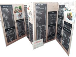 Bảng báo giá In thực đơn/menu