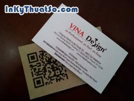 Card visit cafe kết hợp mã QR code