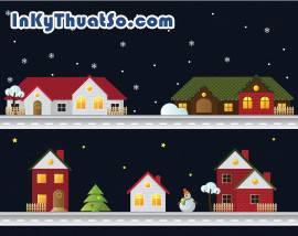 Christmas house vector