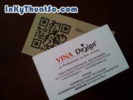Danh thiếp cafe in mã Qr code giới thiệu website cửa hàng