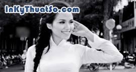 Hoa hậu Diễm Hương dịu dàng trong tà áo dài trắng
