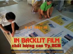 In backlit film chất lượng cao HCM