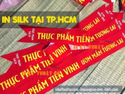In dải băng đeo chéo người từ in vải silk giá rẻ cho sự kiện