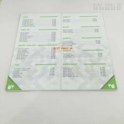 In nhanh menu thực đơn cho nhà hàng