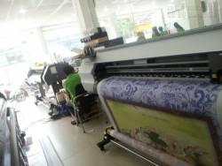 In tranh nghệ thuật chất liệu vải silk hình Phật