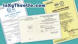 In ấn nhanh giấy chứng nhận