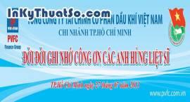 In băng rôn bằng bạt Hiflex cho Công ty Tài Chính Cổ Phần Dầu Khí Việt Nam