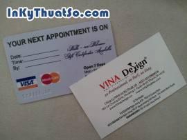 In card visit dập nổi chữ và số