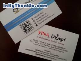 In card visit trong suốt tích hợp mã QR code