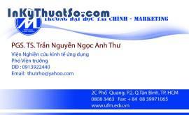 In Name card bằng giấy Couche cao cấp cho Đại Học Tài Chính Marketing