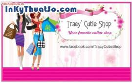 In namecard bằng giấy Coucher cao cấp cho Tracy' Cutie Shop