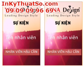 In thẻ đeo từ in offset