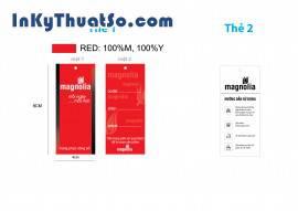 In nhãn mác thời trang công sở bằng giấy couche chất lượng cao cho Magnoli