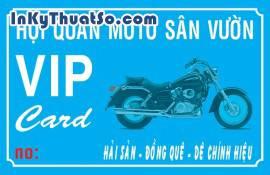 In Thẻ VIP bằng thẻ nhựa cao cấp cho Hội Quán MôTô Sân Vườn