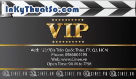 In Thẻ VIP bằng nhựa cao cấp cho Cinee