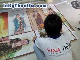 In tranh nghệ thuật tôn giáo bền đẹp với chất liệu silk tại Tp.HCM