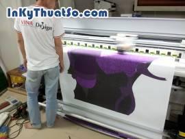 In tranh nghệ thuật trừu tương với chất liệu silk tại Tp.HCM
