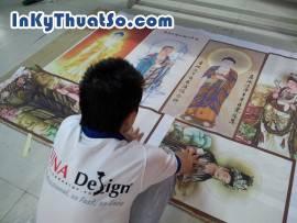 In tranh Phật giáo từ in tranh nghệ thuật chất liệu vải silk tại Tp.HCM