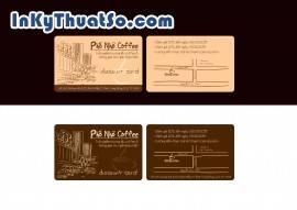 In Voucher giảm giá bằng thẻ nhựa PVC cho Phố Nhỏ Coffee