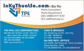 In Namecard bằng giấy couche cao cấp cho công ty Tín Phú Lợi