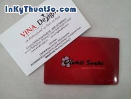 Name card cafe in menu mặt sau