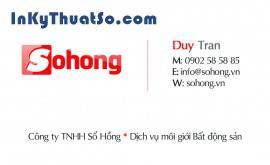In Namecard cho Công Ty BĐS Sổ Hồng