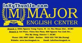 Poster Trung tâm Anh ngữ Major