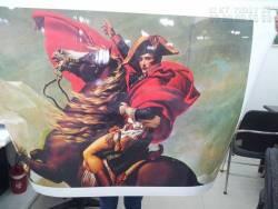 Tranh sơn dầu in canvas Napoleon vượt dãy Alps