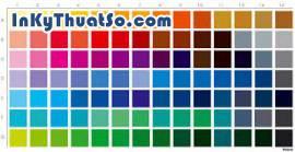 Vật phẩm in ấn sử dụng màu Pantone.