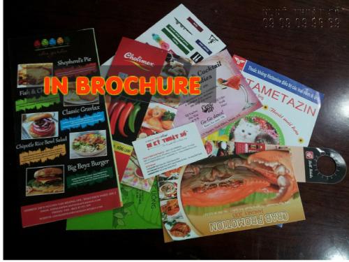 In brochure TPHCM quảng cáo giá rẻ tại Công ty TNHH In Kỹ Thuật Số - Digital Printing