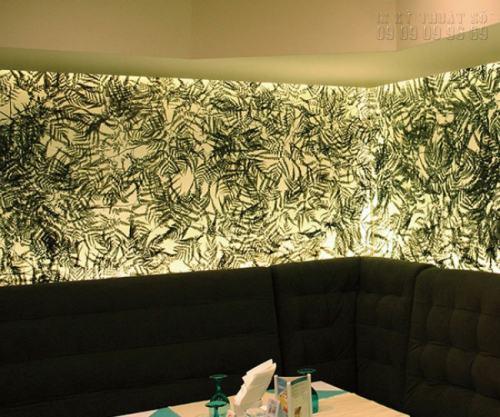 In backlit film làm viền trang trí tường