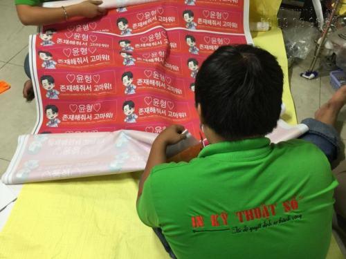 Sản phẩm in kỹ thuật số vải Silk cho khách hàng Hàn Quốc