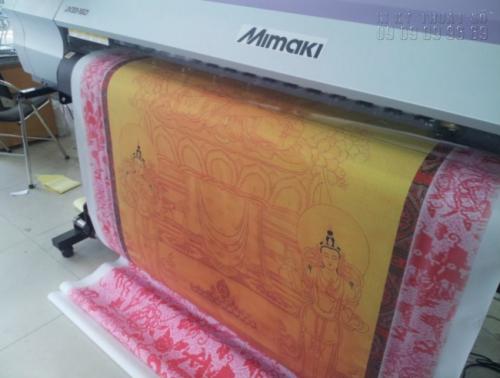 Sản phẩm in lụa (Sick) được bế trên máy bế Mimaki
